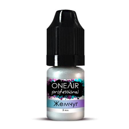 Перламутровая краска для аэрографии на ногтях белая жемчуг OneAir Professional