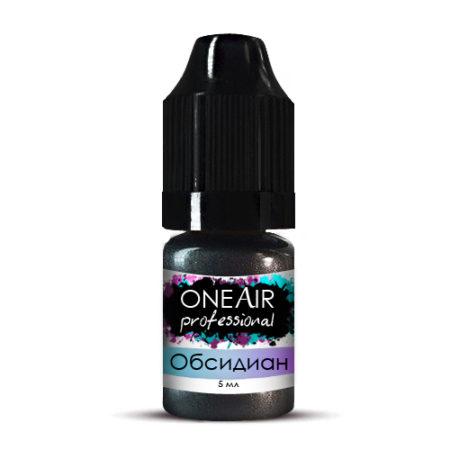 Перламутровая краска для аэрографии на ногтях черная обсидиан OneAir Professional