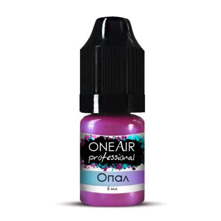 Перламутровая краска для аэрографии на ногтях розовая опал OneAir Professional