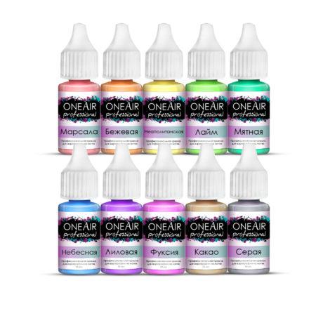 краска для аэрографии на ногтях oneair, аэрография на ногтях, oneair, one air professional, one air professional краска