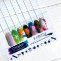 Трафареты для аэрографии на ногтях OneAir Кляксы