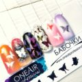 Трафареты для аэрографии на ногтях OneAir Бабочки