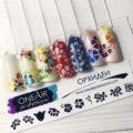 Трафареты для аэрографии на ногтях OneAir Орхидеи