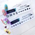 Трафареты для аэрографии на ногтях OneAir Поп-Арт Усы и Губы