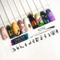 Трафареты для аэрографии на ногтях OneAir Коты