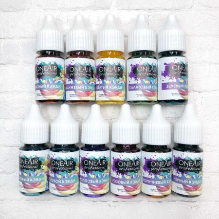 Набор витражных профессиональных красок Кэнди OneAir для аэрографии на ногтях