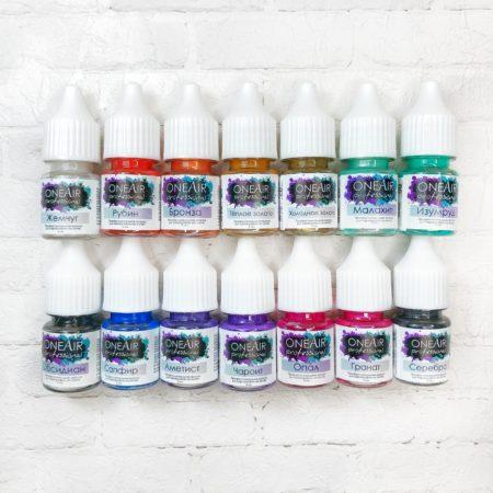 Набор Перламутровых красок OneAir профессиональные краски для аэрографии на ногтях