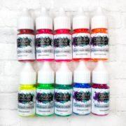 Набор Неоновых красок OneAir профессиональные краски для аэрографии на ногтях
