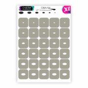 Трафареты для аэрографии на ногтях OneAir Овалы XL