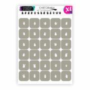 Трафареты для аэрографии на ногтях OneAir Снеговики XL