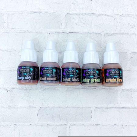 Краска для аэрографии на ногтях OneAir набор хамелеонов