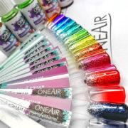 Витражные кэнди краски для аэрографии на ногтях OneAir