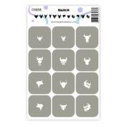 Трафареты для-аэрографии на ногтях OneAir быки