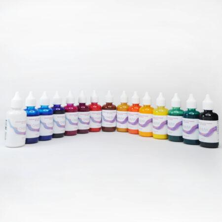 Набор красок для аэрографии по ткани oneair