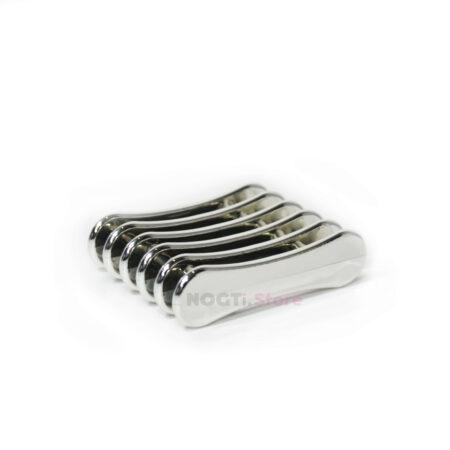 Подставка под кисти серебряная