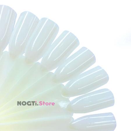 Типсы телесные натуральные квадрат на кольце купить NogtiStore
