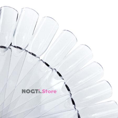 Типсы на кольце прозрачные квадрат купить NogtiStore