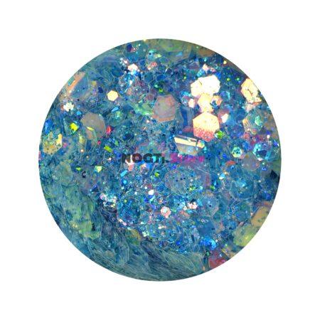 Пайетки голубой жемчуг