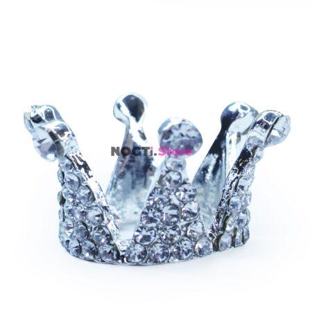 Подставка для кистей корона мини серебро