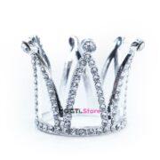 Подставка для кистей корона серебро