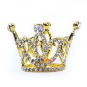 Подставка для кистей корона золото ажурная