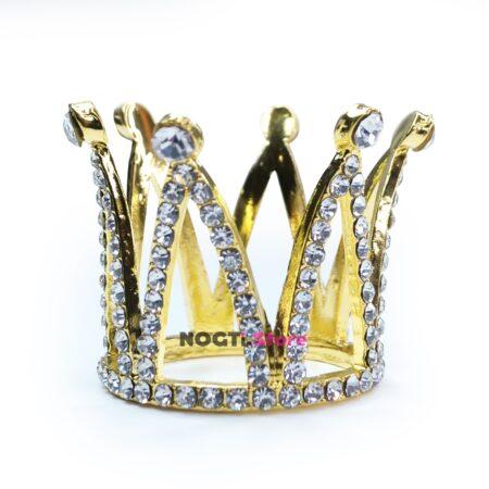 Подставка для кистей корона золото