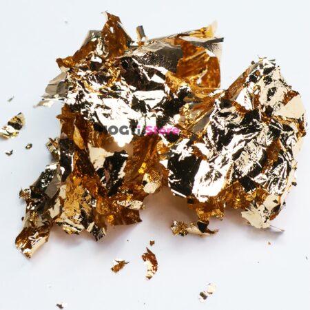 Поталь для литья глянцевая красное золото