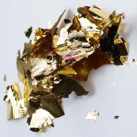 Поталь для литья глянцевая теплое золото