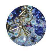 Набор для дизайна ногтей синий жемчуг