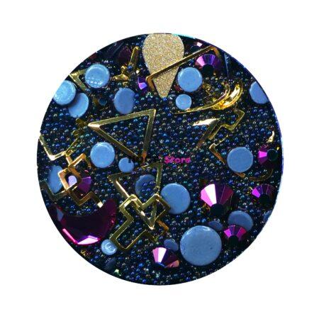 Набор для дизайна ногтей черный фиолет
