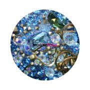 Набор для дизайна ногтей голубой жемчуг